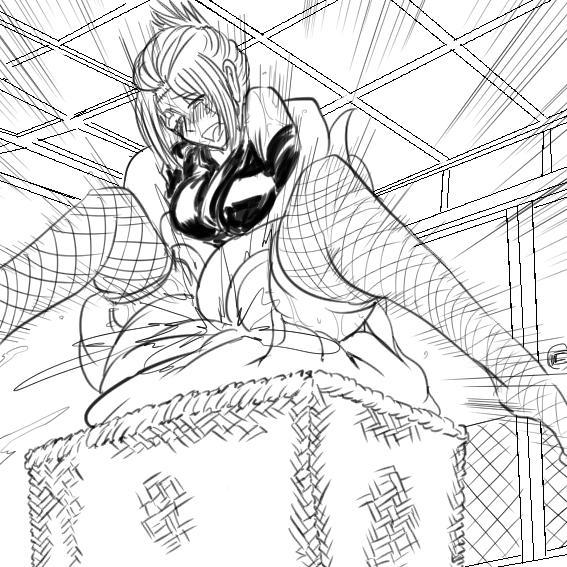 Tsukuyo ga Shokushu Furo de Naburareru! 92