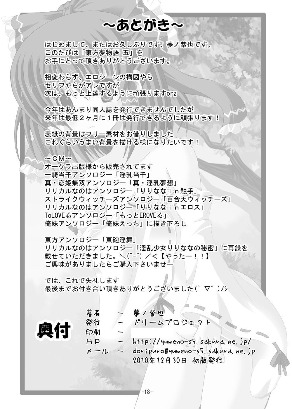 Touhou Yumemonogatari Go 16