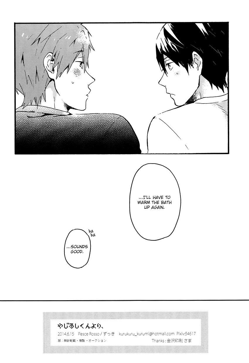 (Renai Shachuation) [Pesce Rosso (Zukki)] Yajirushi-kun yori, | From Cursor-kun (Free!) [English] [Seabreeze Romance Scans] 32