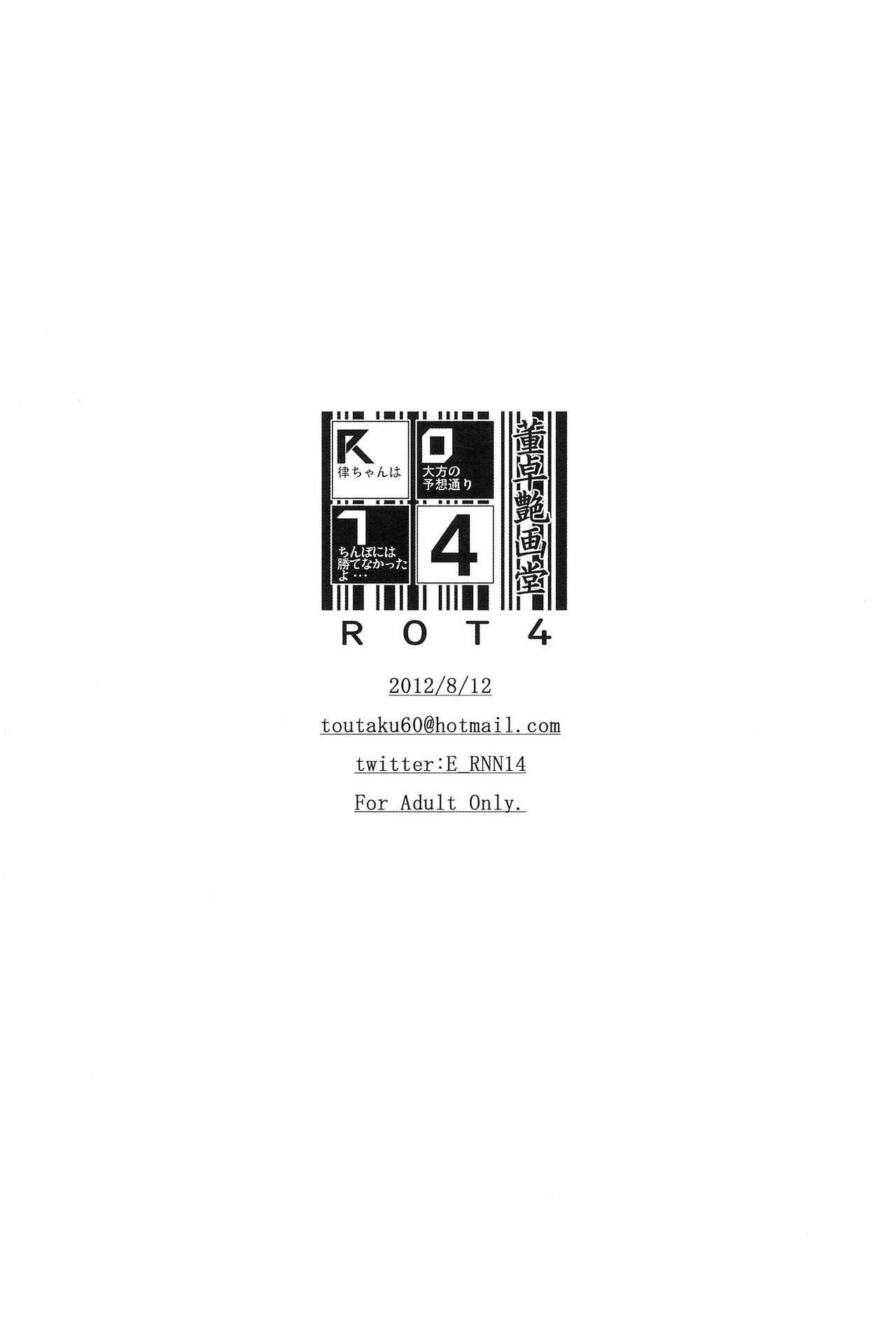 R.O.T 4 Ritsu-chan wa Ookata no Yosoudoori Chinpo ni wa Katenakatta yo... 15