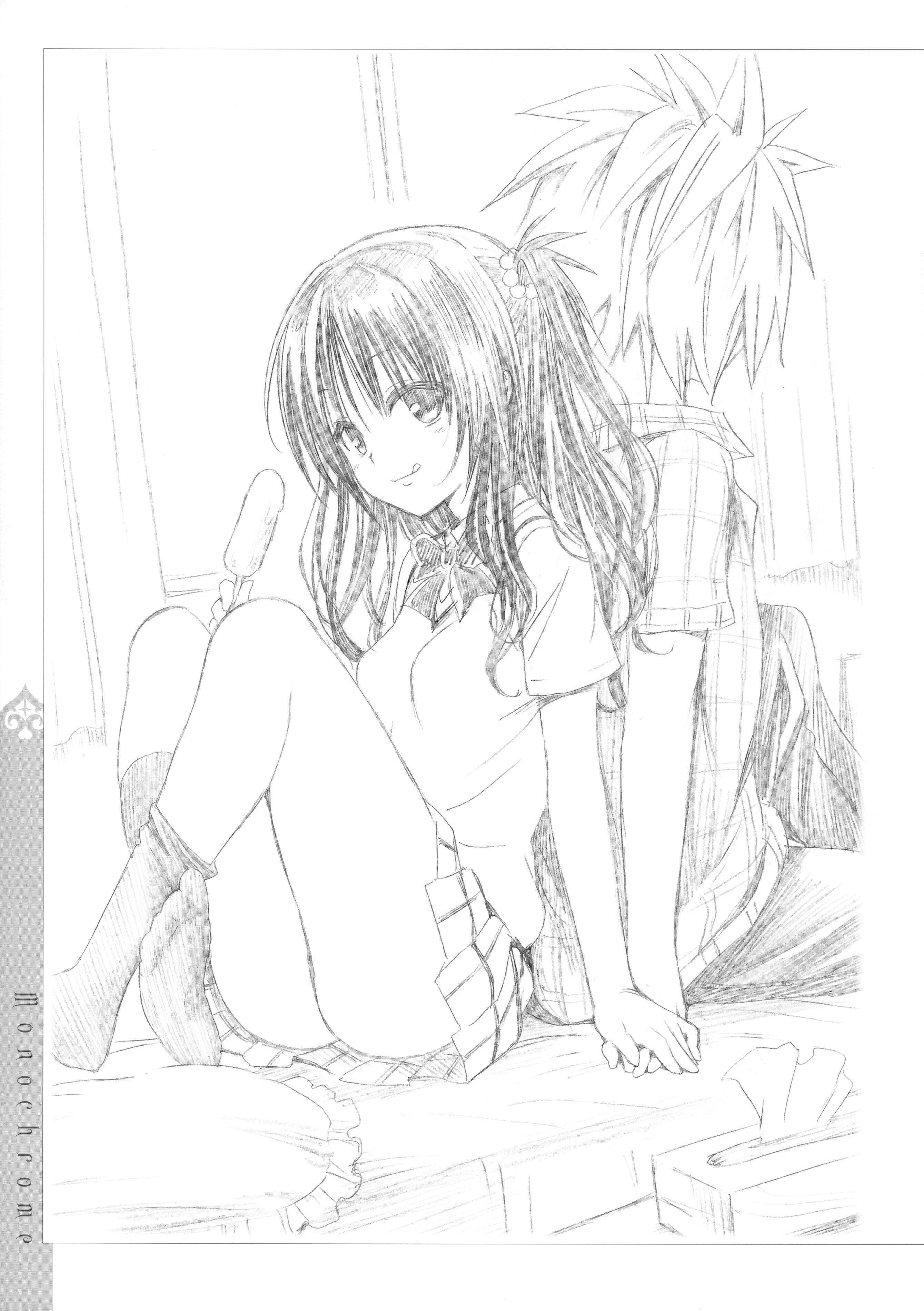[Yabuki Kentaro] To Love-Ru -Trouble- Darkness Artbook Harem Gold 131