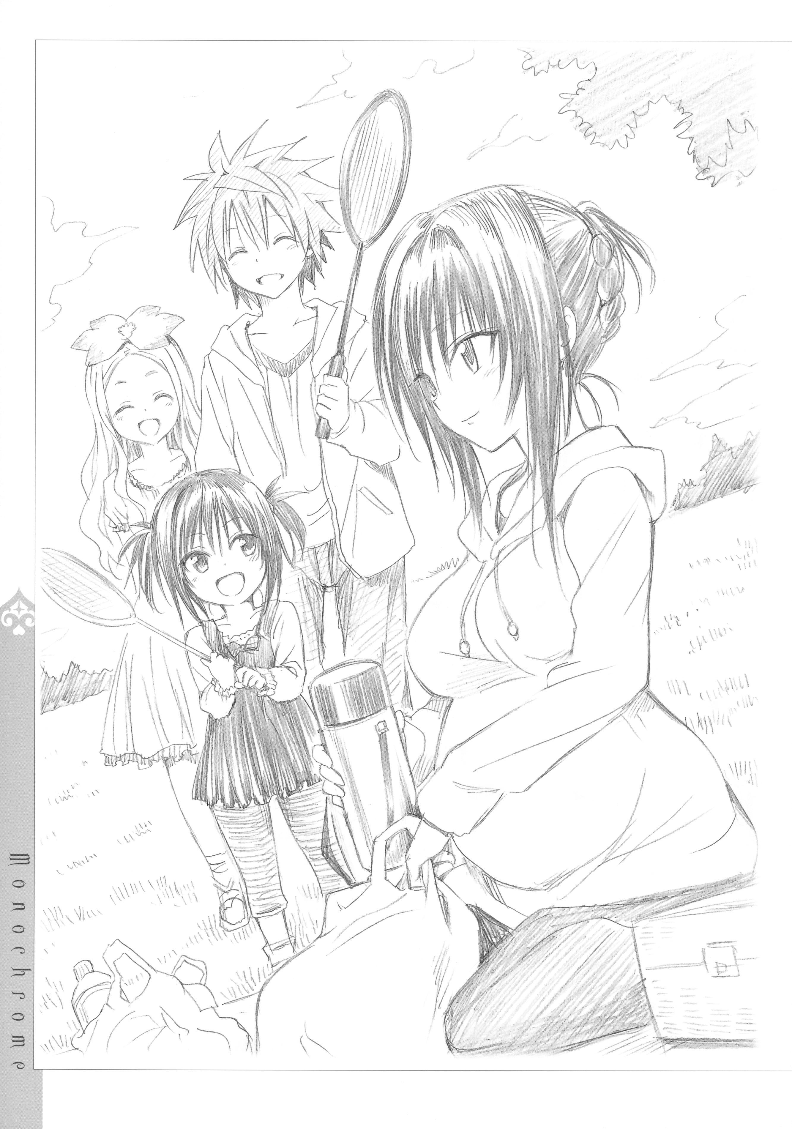 [Yabuki Kentaro] To Love-Ru -Trouble- Darkness Artbook Harem Gold 135
