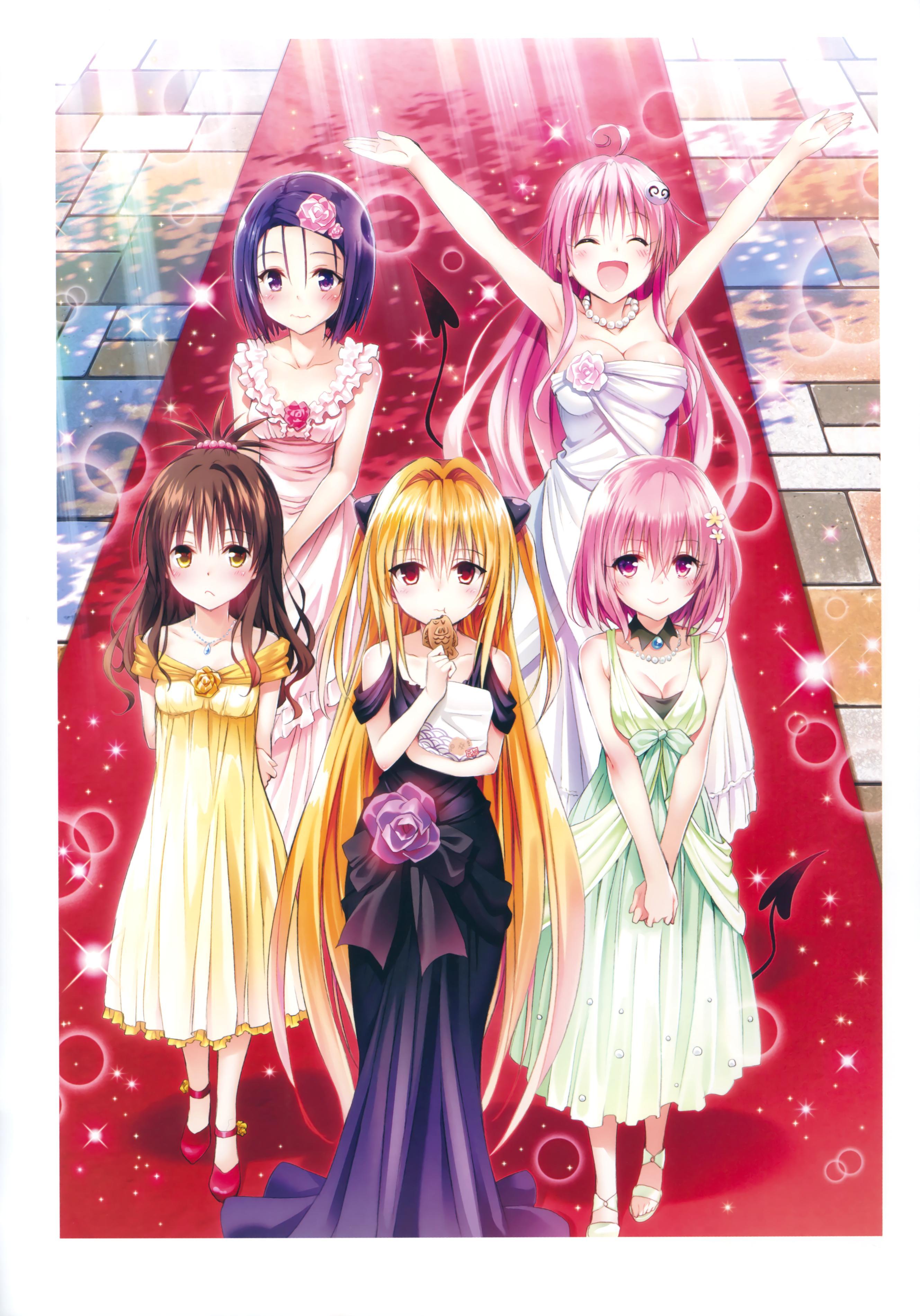 [Yabuki Kentaro] To Love-Ru -Trouble- Darkness Artbook Harem Gold 67