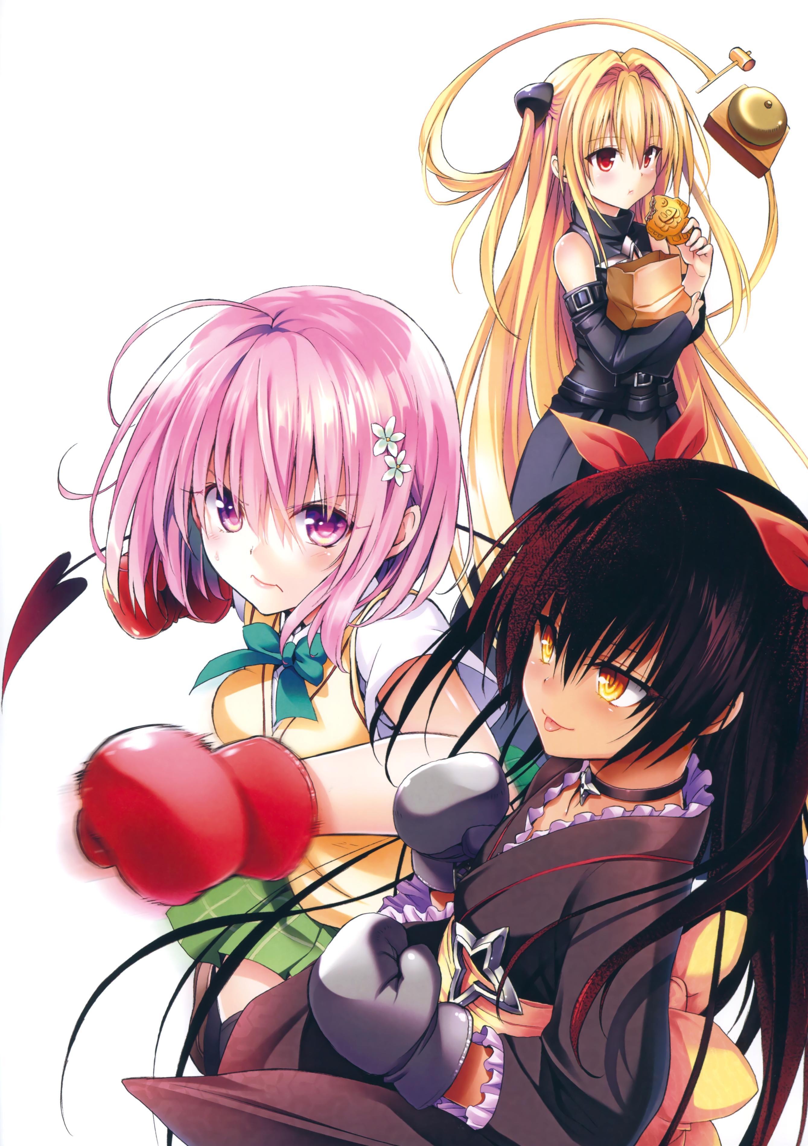 [Yabuki Kentaro] To Love-Ru -Trouble- Darkness Artbook Harem Gold 73