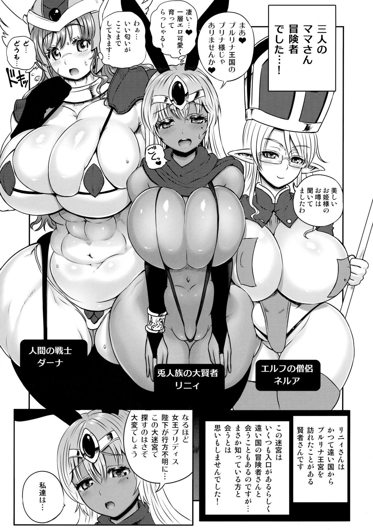 Meikyuu Oujo to 3-nin no Mama: NatsuComi Kaijou Shousasshitsuki Set 6
