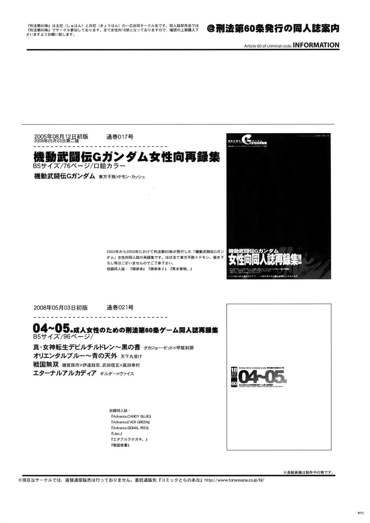 [Article 60 of Criminal Code (Shuhan)] G-gan Josei-Muke Sairoku-Shuu (G Gundam) 71
