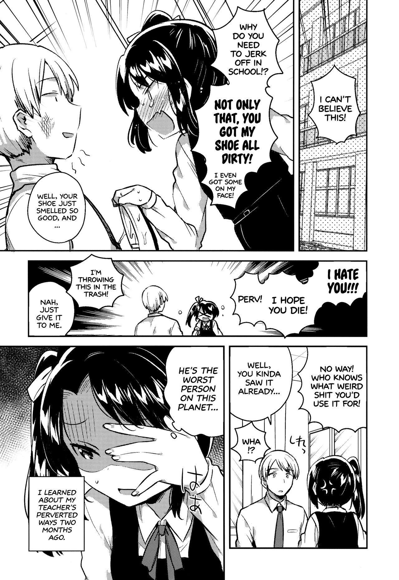 (SC2018 Spring) [squeezecandyheaven (Ichihaya)] Sensei wa Lolicon de Saitei Hentai no Gomikuzu [Zen] + Omake   My Teacher is a Perverted Pedophile Shithead and I Hate Him (First Half) + Bonus Story [English] [ATF] 4