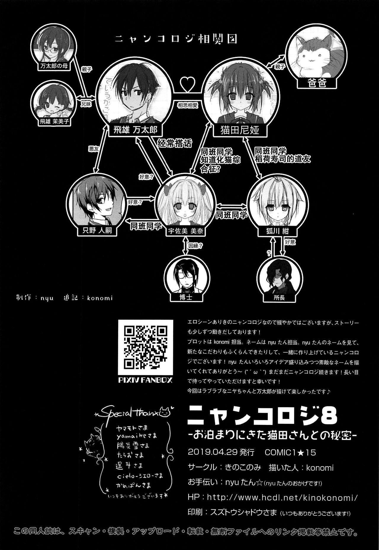 (COMIC1☆15) [KINOKONOMI (konomi)] Nyancology 8 -Otomari ni Kita Nekoda-san to no Himitsu- [Chinese] [路过的rlx个人练习汉化] 28