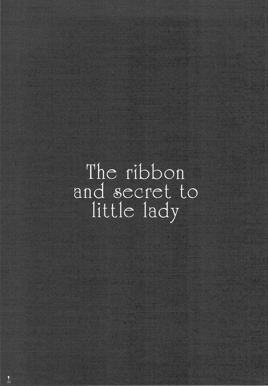 The ribbon and secret to little lady 34