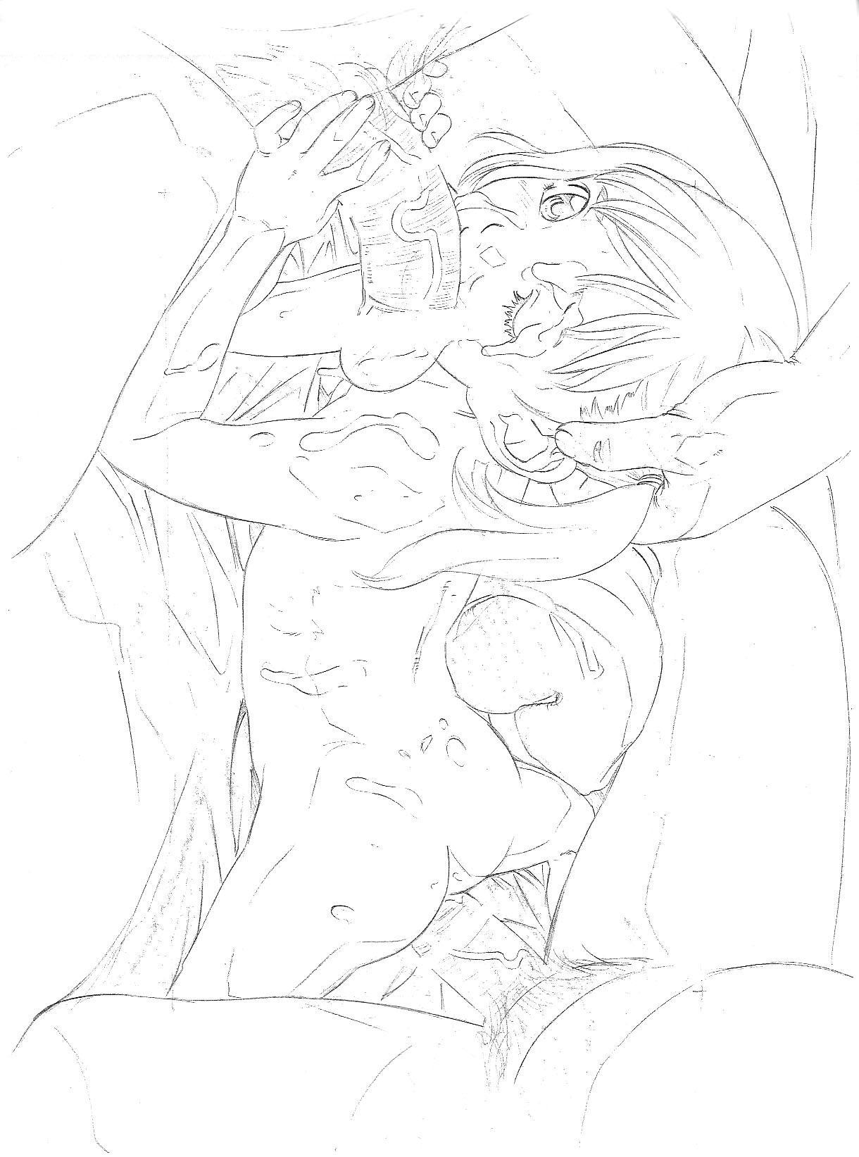 Original Rough Genga Copy Shuu 13