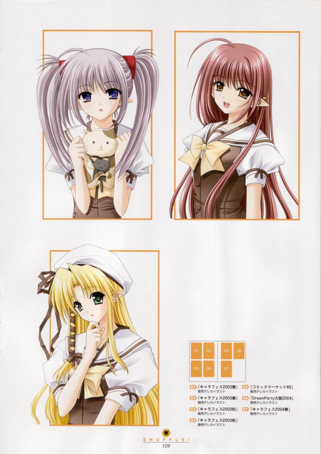 SHUFFLE! Visual Fan Book 109