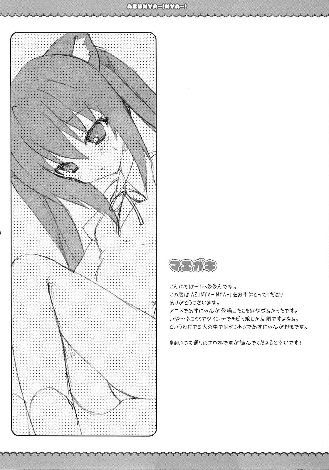 (C76) [LOOPTHELOOP! (Herurun)] AZU NYA-! NYA-! (K-ON!) 3