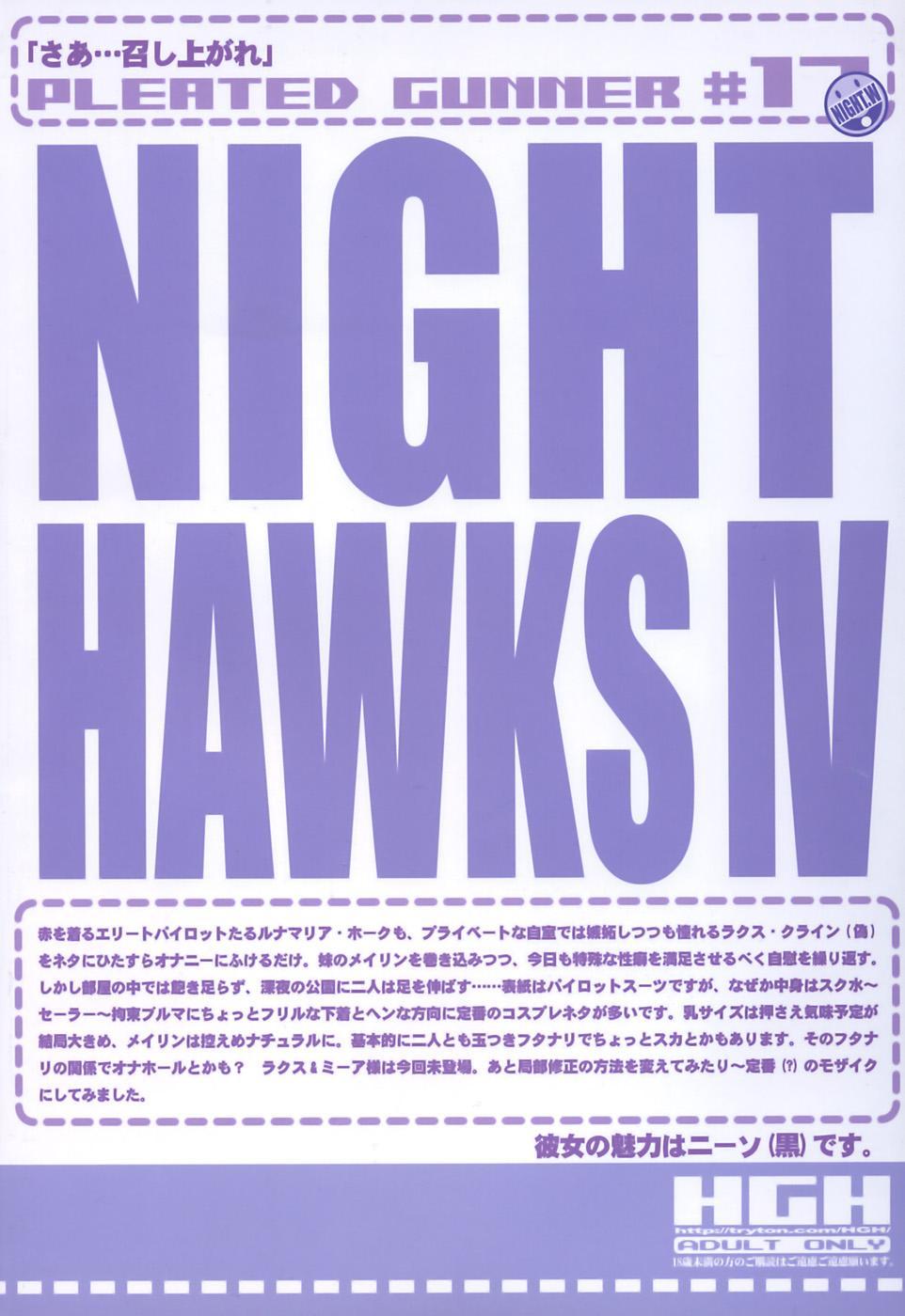 Pleated Gunner #17 - Night Hawks 4 1