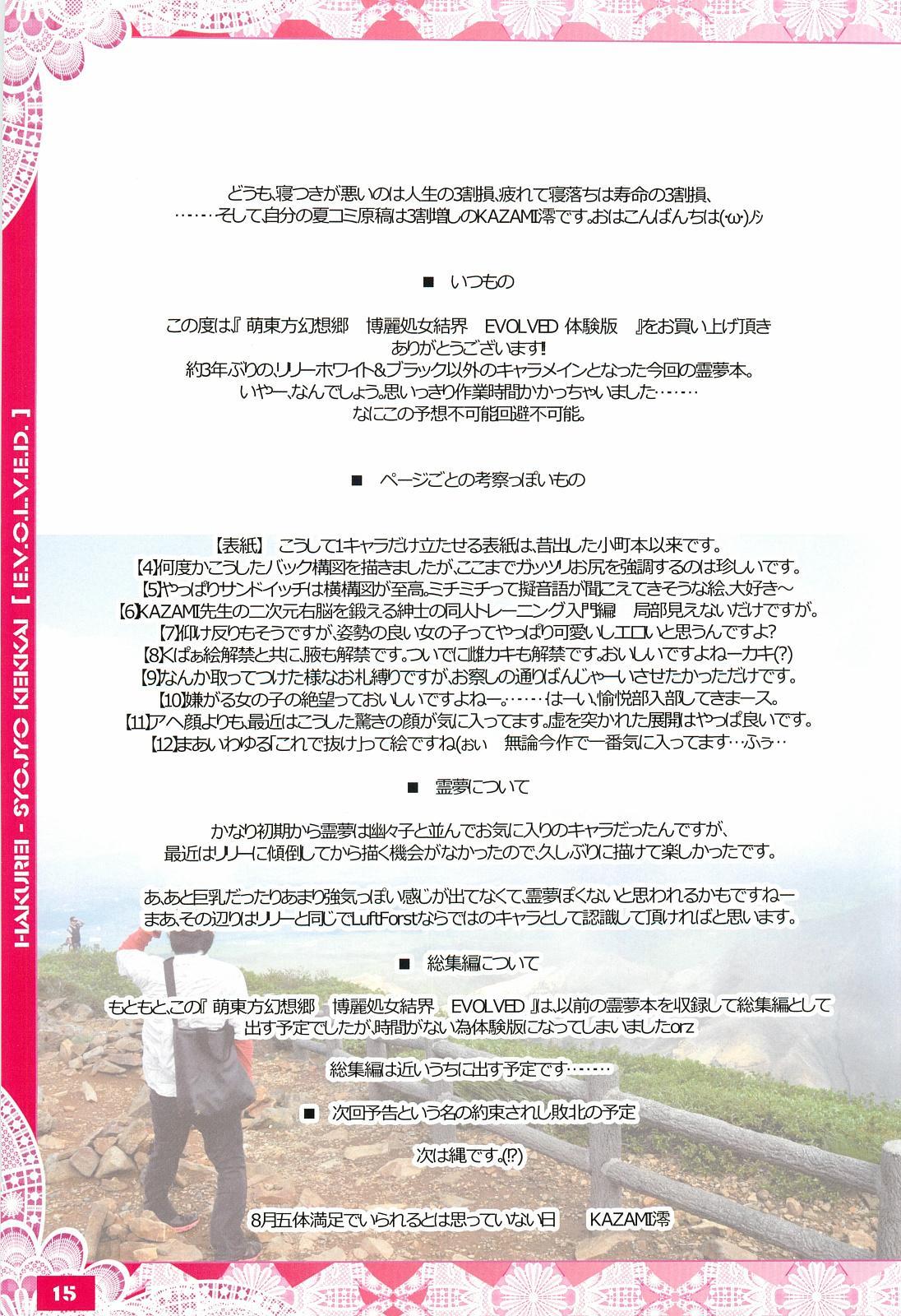 Moe Touhou Gensoukyou - Hakurei Shojo Kekkai EVOLVED Taikenban 13