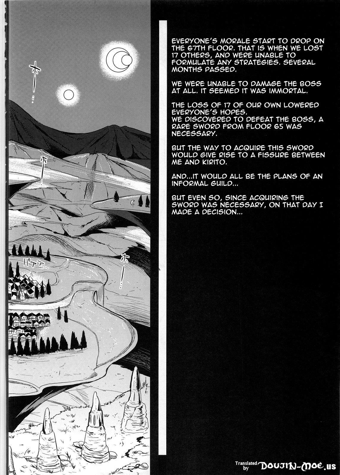 (C83) [YURIRU-RARIKA (Kojima Saya, Lazu)] Shujou Seikou II α Watashi... Okasarete Anal ni Mezamemashita | Captive Sex II - After Being R-ped, I was Awakened to Anal (Sword Art Online) [English] {doujin-moe.us} 4